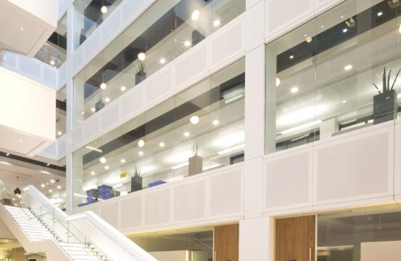 Acoustic Perforated Spandrel Cladding Panels