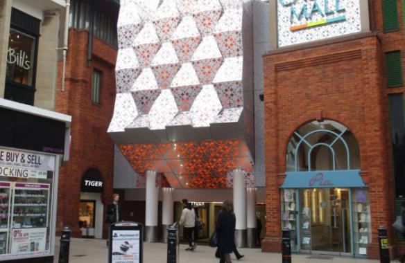 Castle Mall - Anodised Perforated Illuminated cladding