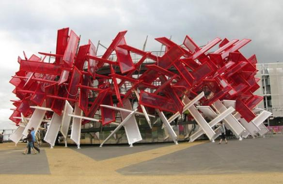 Coca Cola Pavilion, Stainless Steel Cladding