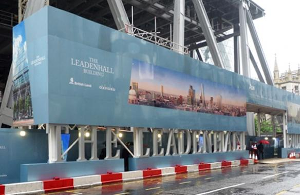 Digitally Printed Hoarding - The Leadenhall Building