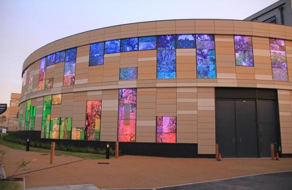 Bath Spa University, LED Facade Lighting