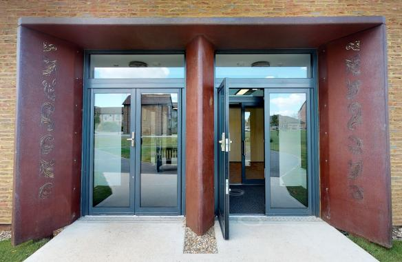 10mm Corten water jet cut, chemically rusted and lacquered