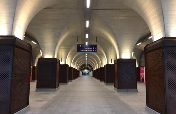 London Bridge Station 10mm Corten Perforated Chemically rusted and lacquered