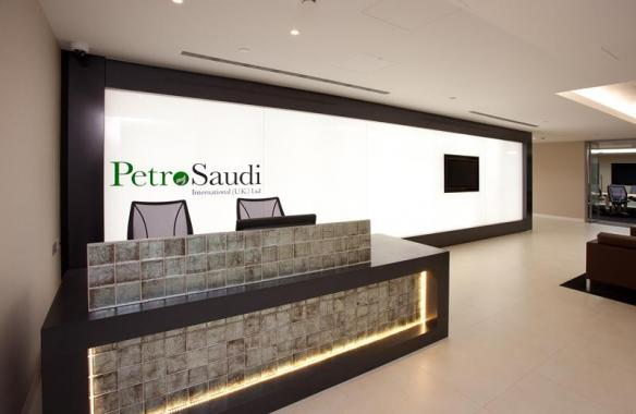 PetroSaudi - Glass LED Light Wall